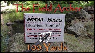 GERMAN KINETICS BROADHEAD AT 100 YARDS