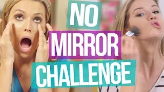 No Mirror Makeup Challenge - Meghan vs. Dana