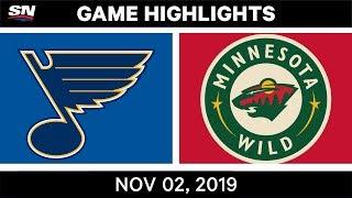 NHL Highlights   Blues vs Wild – Nov. 2, 2019