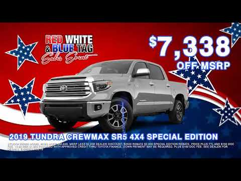 Red White And Blue Auto Sales >> Its The Red White Blue Sale At Universal Toyota