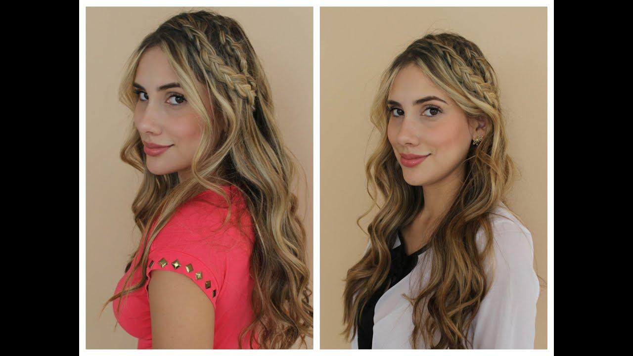 Peinado Romantico Con Doble Trenza Carolina Ortiz Youtube - Peinados-romanticos-con-trenzas