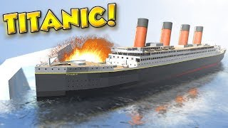 Sinking Of The Titanic! - Disassembly 3d Gameplay - Taking Apart And Sinking The