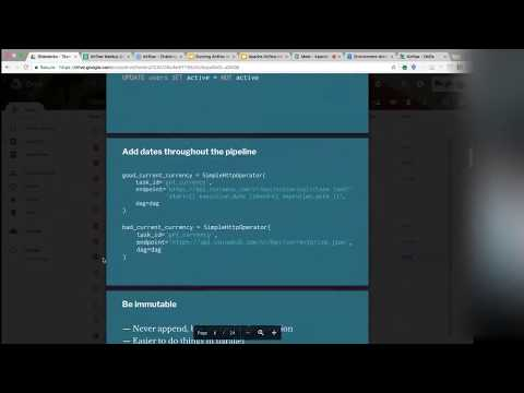 Apache Airflow Meetup: Elegant Data Pipelining with Apache Airflow