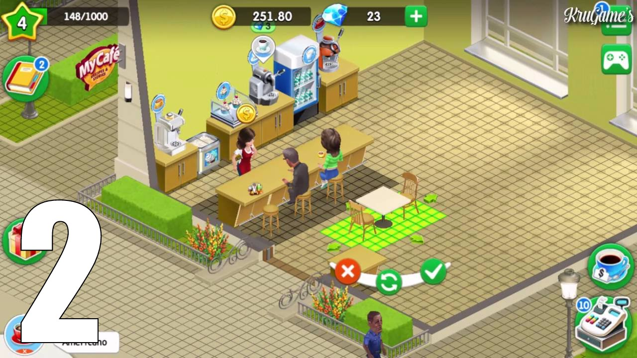 My Cafe Recipes Stories Android Gameplay 2 Youtube