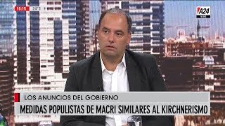 """Manuel Adorni en """"Más que noticias"""", con Mauro Viale; por """"A24"""" - 17/04/19"""