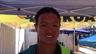 Raime Jones (Aquajets) Janet Tran, Sophie Krivokapic-Zhou (Santa Clara)