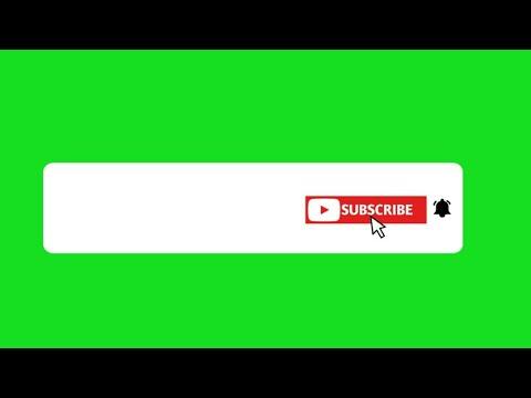 GREEN SCREEN ANIMATED SUBSCRIBE BUTTON | No Copyright 2019