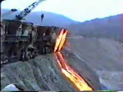 Dumping slag at Bethlehem Steel in 1994