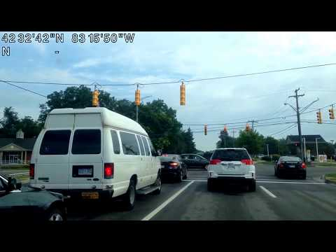 Driving from Beverly Hills, Michigan to Shelby Township, Michigan