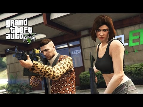 ROBBING A BANK!!  (GTA 5 Online Heists)