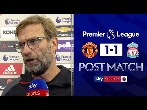 Jurgen Klopp disappointed with Man United's 'defensive' tactical set-up | Post Match Interview