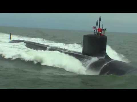 Submarine John Warner Delivered to U.S. Navy