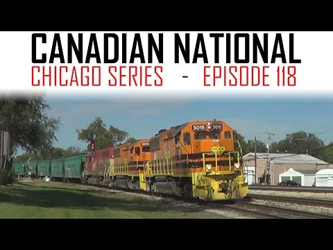 Gilman Area Trains on the CN Chicago Sub - E118