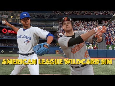 MLB WILDCARD!! | BLUE JAYS VS ORIOLES Playoff Simulation | MLB The Show 16