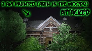 (GONE WRONG) 3AM HAUNTED CABIN IN THE WOODS // CHASED BY WILD COYOTES
