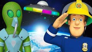 Sam le Pompier en francais  Nicolas l'étranger  Semaine Mondiale de l'Espace | Dessin animé