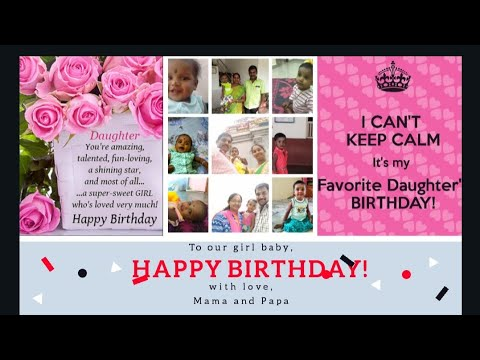 Happy Birthday To My Little Princess Live Long And Stay Blessed My Dear Chella Kutty