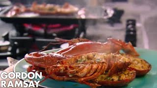Grilled Lobster With Bloody Mary Linguine - Gordon Ramsay