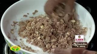 Sivappu Aval Verkadakai Urundai & Sigappu Aval Murukku – Aarokiya Unavu – Jaya TV cookery Show Arokiya Unavu