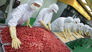 100,000 snacks sold a month! Healthy Korean Baby Snacks Factory - Korean snack factory