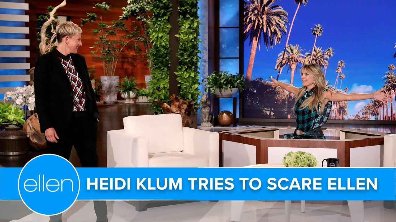 Heidi Klum Fails to Scare Ellen