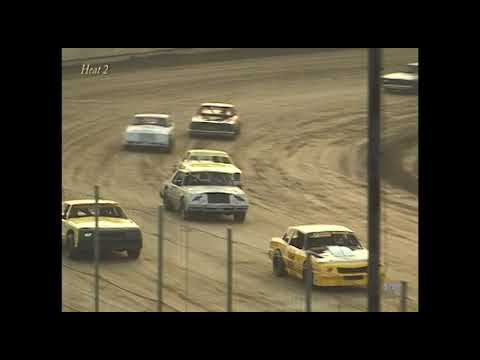 Full race from the Factory Stock division at Hartford Speedway Park in MI June 29, 2001. - dirt track racing video image