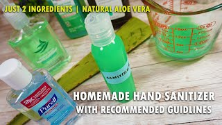 Life hacks and tips: how to make a easy cheap homemade hand sanitizer - try your own fight against corona. getting hands o...