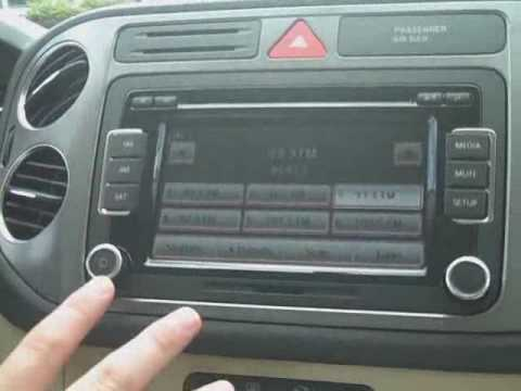 2010 Volkswagen Tiguan With New Touchscreen Radio Youtube