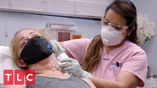 Removing Cysts from Audrey's Neck | Dr. Pimple Popper