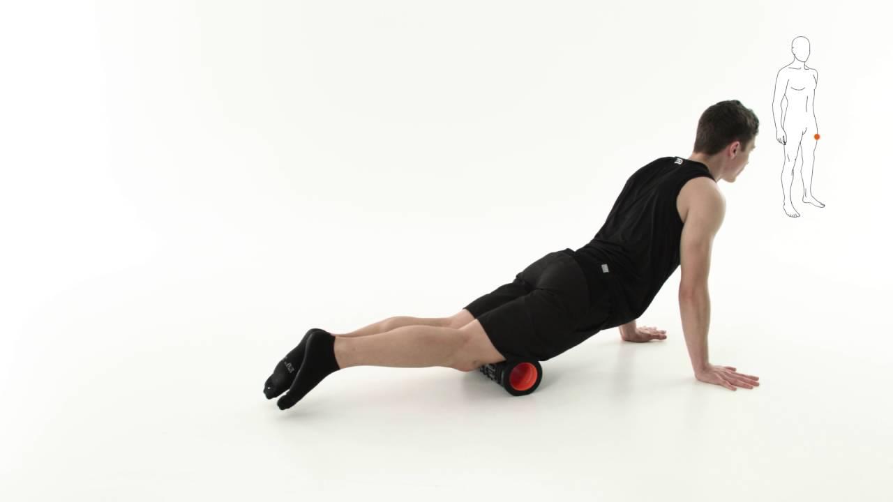 rouleau de r cup ration auto massage du quadriceps aptonia decathlon youtube. Black Bedroom Furniture Sets. Home Design Ideas