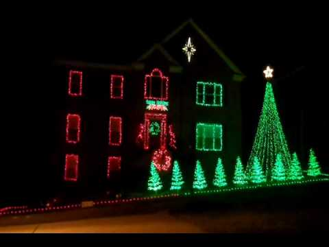 Christmas Lights dancing to Carol of the Bells in Nashville, TN