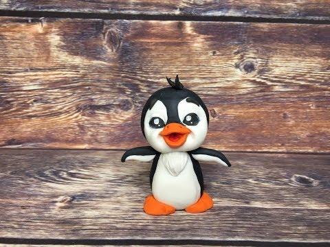 фигурка Пингвин из мастики