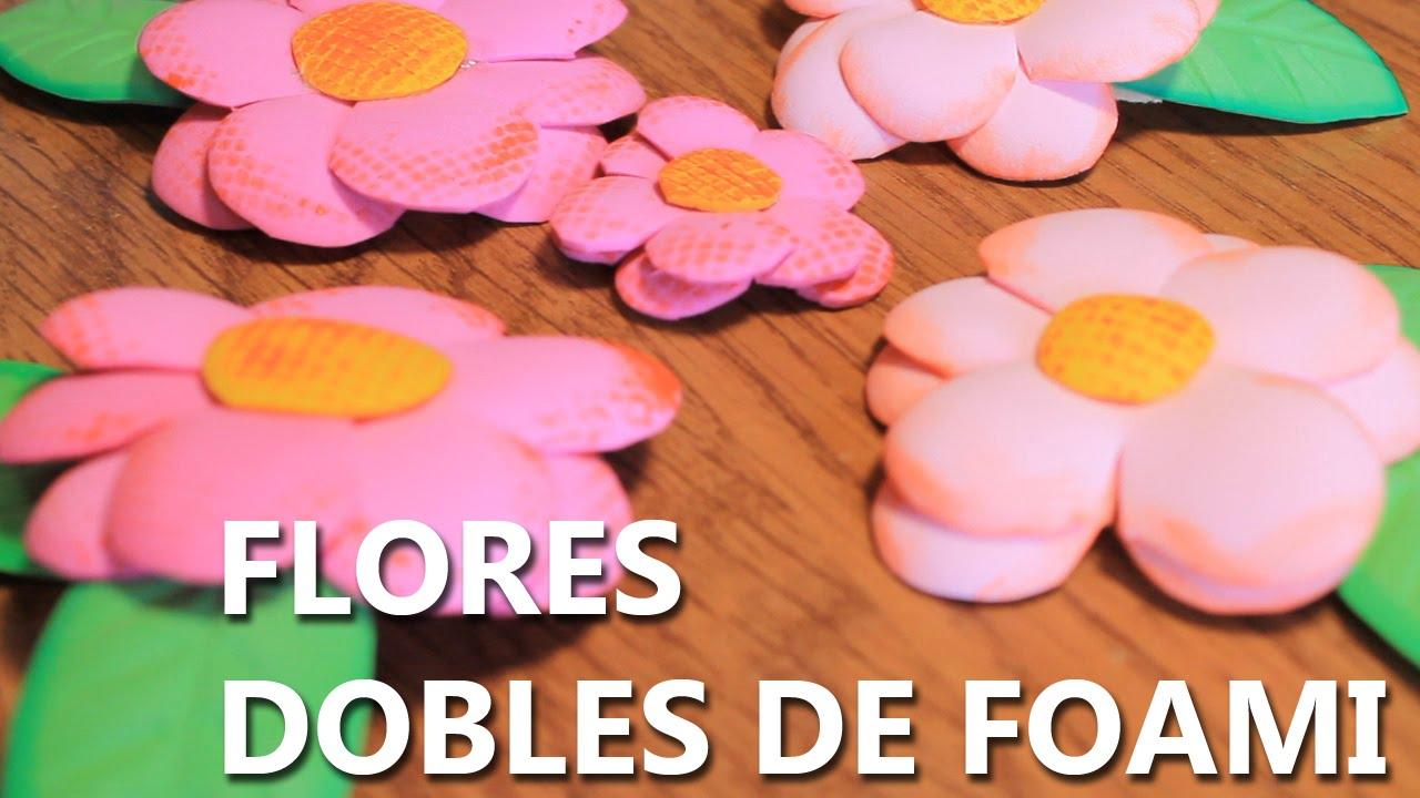 Como Hacer Flores De Fomi Faciles Y Bonitas Ita Eng Por Sub Youtube