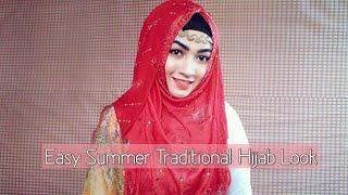 Easy Summer Traditional Hijab look | Pari ZaaD
