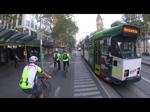 Melbource City Cycling | Crown Casino To |  Melbourne CBD | Little Collins Street