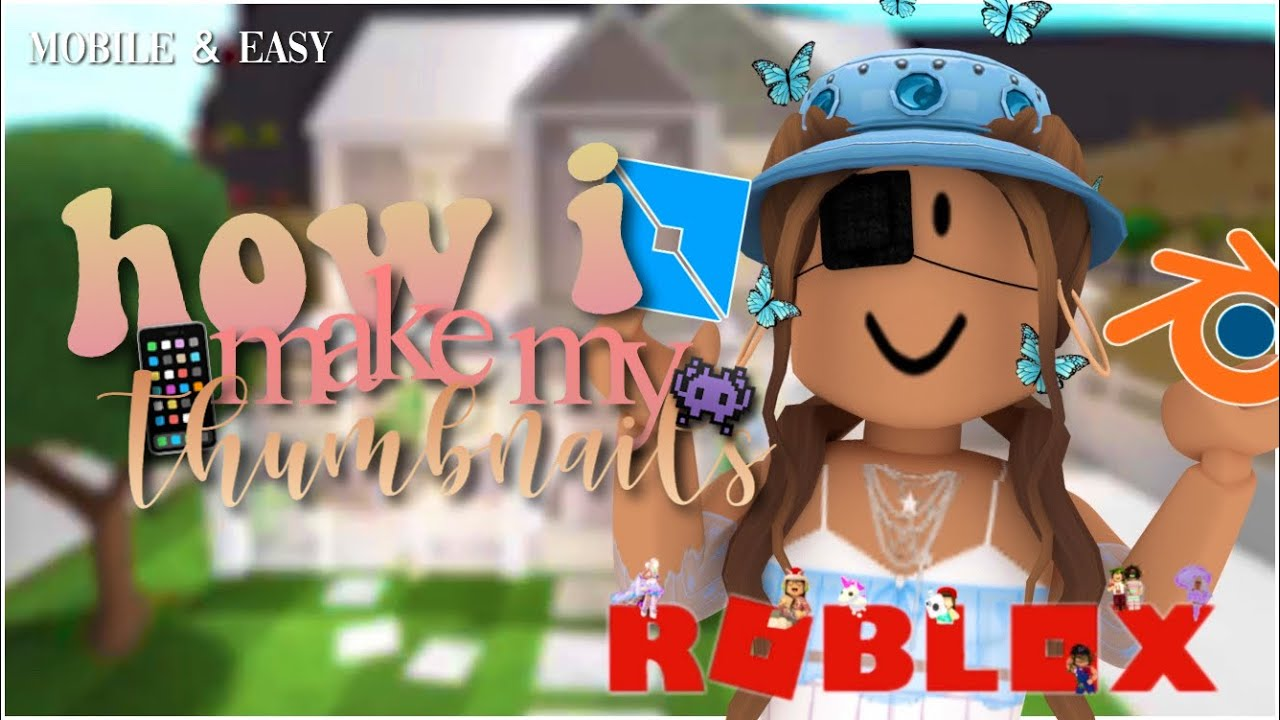 How I Make My Roblox Thumbnails Mobile Easy Youtube