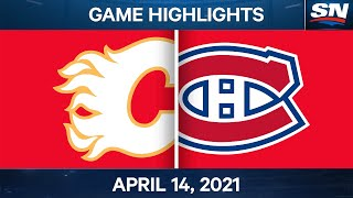 NHL Game Highlights | Flames vs. Canadiens - Apr. 14, 2021