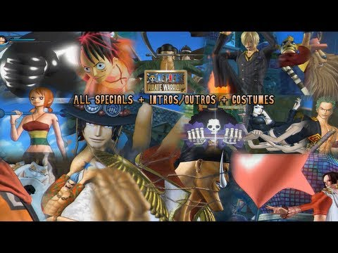 One Piece: Pirate Warriors - ALL CHARACTER SPECIALS [English Subs] (All Costumes/DLC/Intros/Outros)