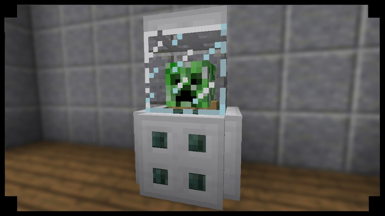 minecraft how to make a helmet display case   youtube
