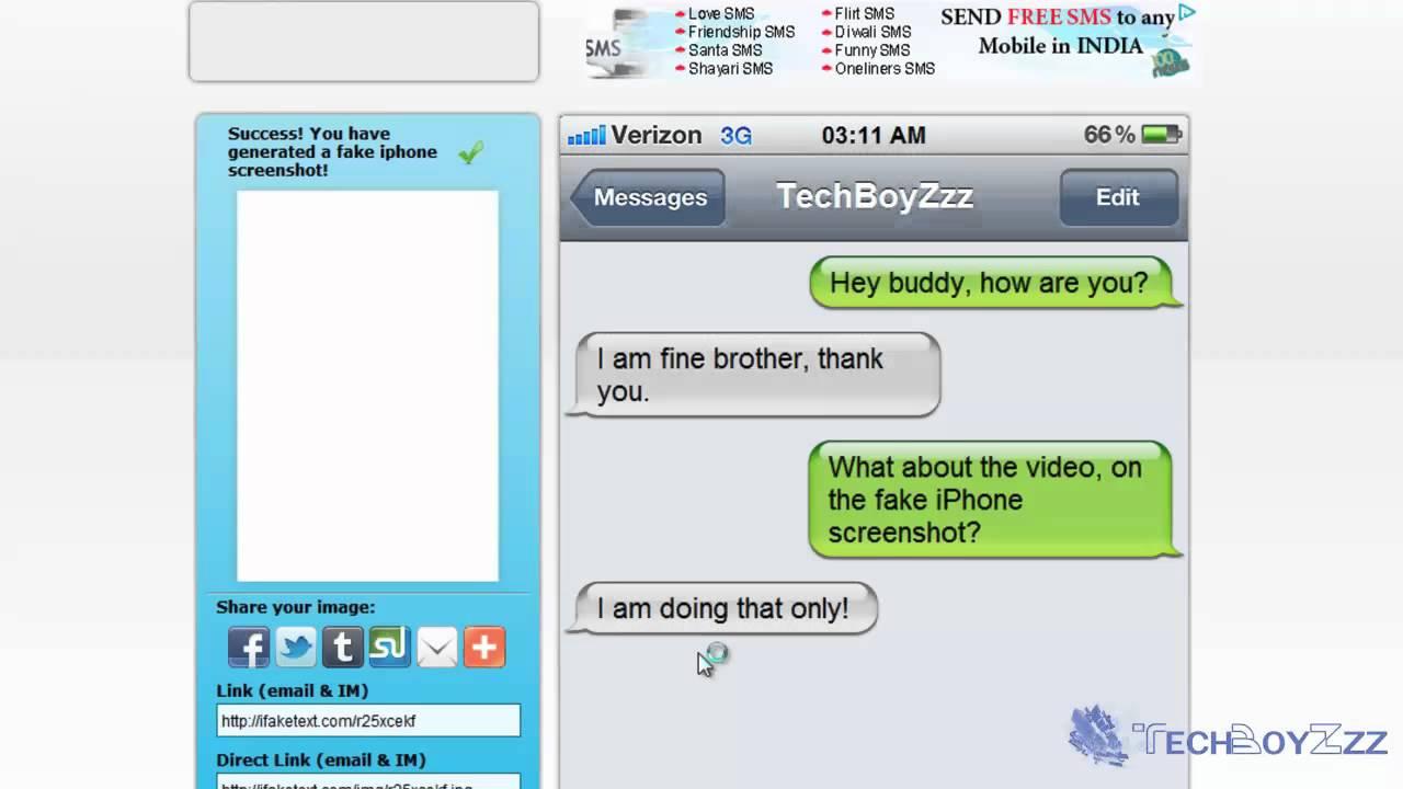 Message Text Create Youtube Conversation Iphone Fake -
