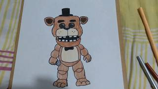Cómo PINTAR a 🐻FREDDY FUNKO POP 😊de FIVE NIGHTS AT Freddy's/how to PAINT Freddy Funko pop