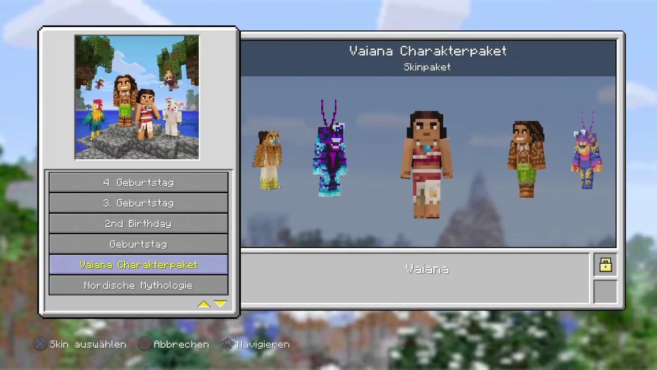 Minecraft Konsole Vaiana Skinpack YouTube - Minecraft spiele geburtstag