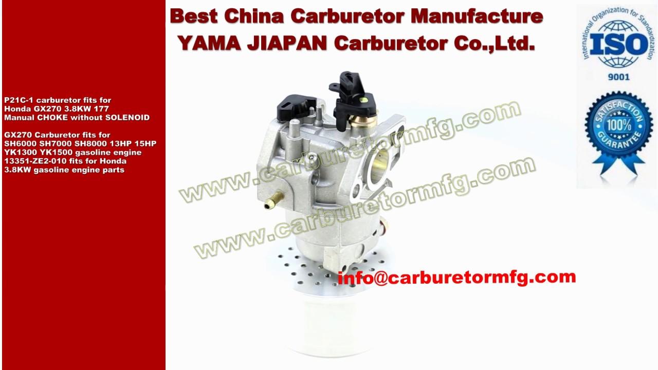 p21c 1 carburetor fits for honda gx270 3 8kw 177 manual choke rh youtube com Honda GX390 Honda GX390
