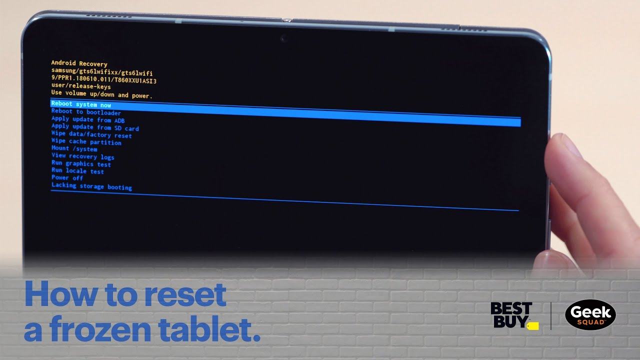 Tech Tips How To Reset A Frozen Tablet Youtube