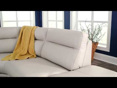 Torino Top Grain Leather Sectional