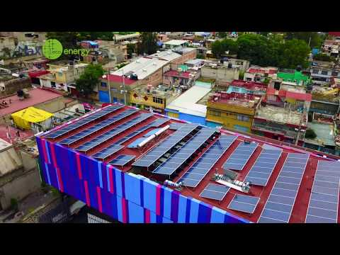 Salerm cosmetics new building in CDMX 40Kw Solar Energy  installed by Max Energy