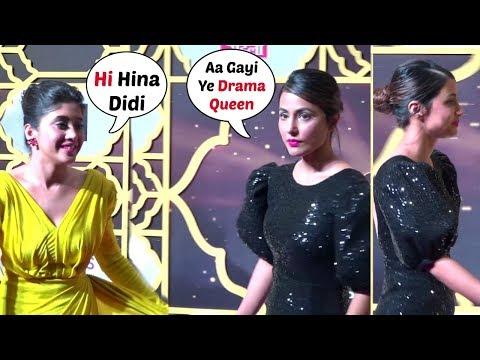 Hina Khan IGNORES Shivangi Joshi At News18 Stardom Awards 2019