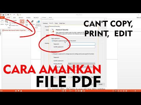 oke dalam video ini akan dijelaskan cara mengunci file pdf agar tidak bisa di copy dan proteksi lain.