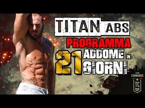 ADDOMINALI in 21 GIORNI ▪ TITAN ABS programma allenamento