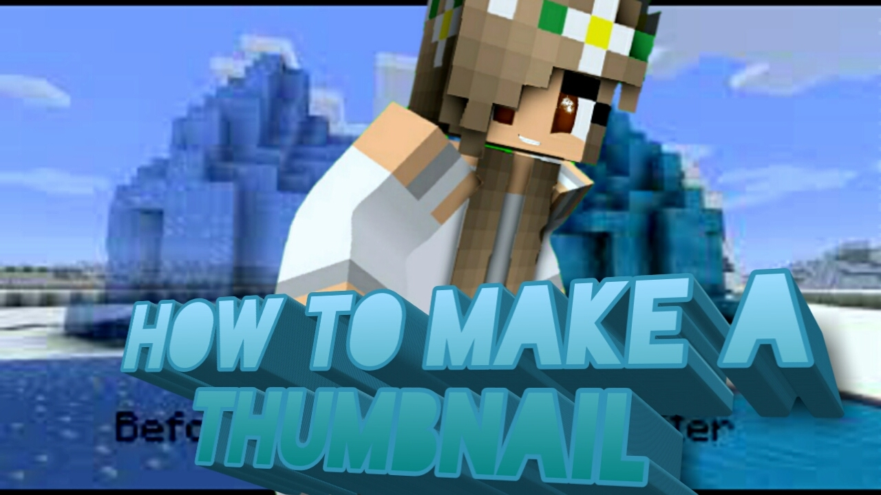How to make a Minecraft 8D thumbnail on mobile devices